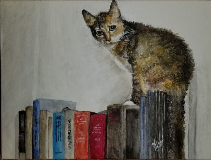 On Top of the Books - Paintings and Photos