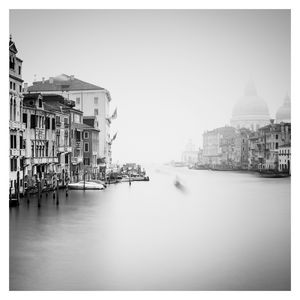 Lone gondalier On Grand Canal,Venice