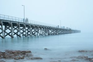 Port Hughes Jetty in the Fog