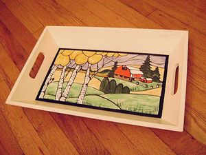 Country Barn (serving tray)