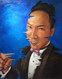 100cm X126cm portrait of chinese man