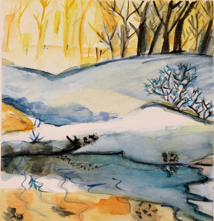 the frozen lake - Pazit Goldstein