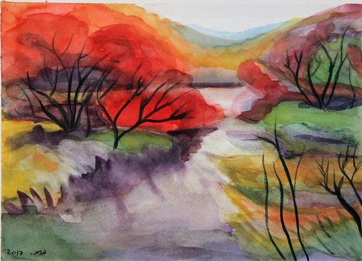 Japanese pond - Pazit Goldstein
