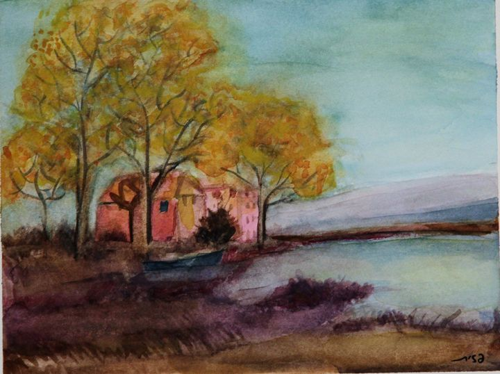house near lake - Pazit Goldstein