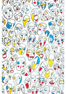 Faces in Red, Blue and Yellow