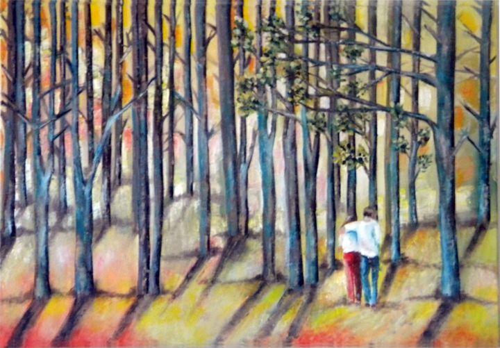 Lovers Walk Through the Woods - Miriam B. Besa