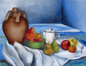 Jug, Coffee Pot with Fruits