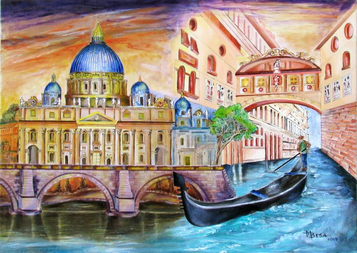 Vatican and The Grand Canal - Miriam B. Besa