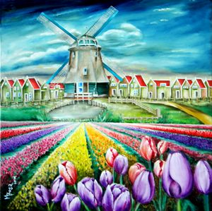 Field of Tulips - Miriam B. Besa