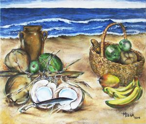 Coconuts and  Fruits by the Sea