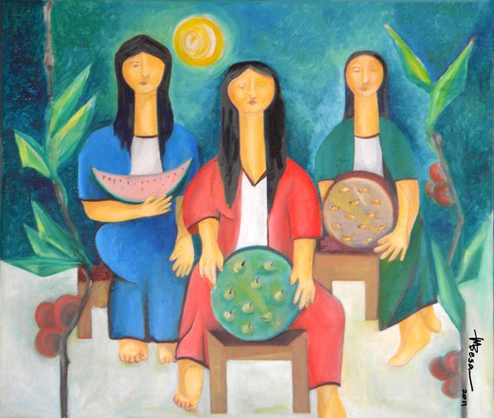 Three Women Vendors - Miriam B. Besa
