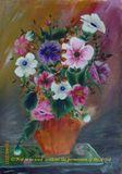 Flowers in a Vase Original Painting