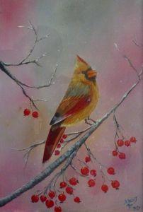 A Birds on a Tree Branch (A3)