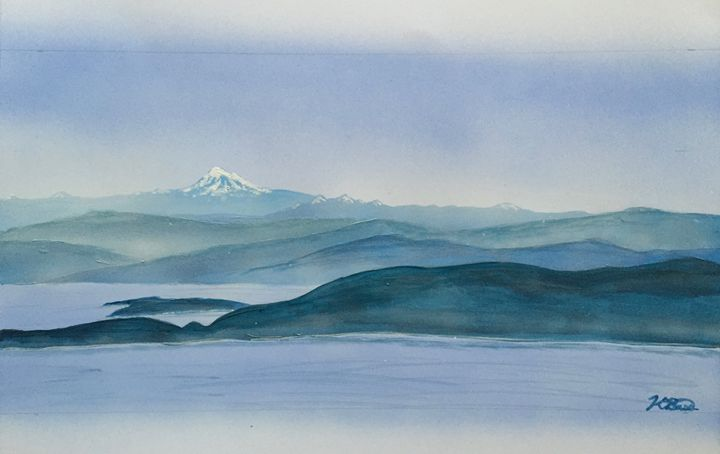 View from Mt. Constitution - K Bass Art