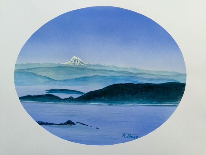 View from Mt. Constitution II - K Bass Art