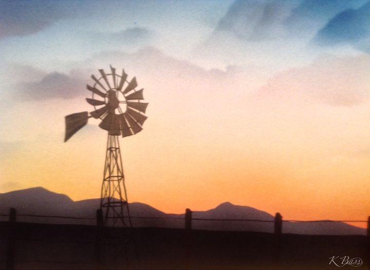 Camas Prairie Windmill II - K Bass Art