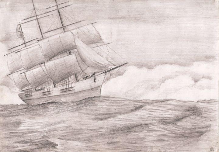 Full-rigged ship - Ben Mel