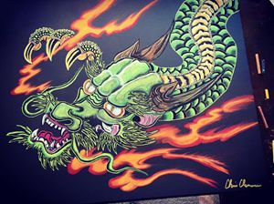 """Green Dragon"" by Chris Clemence"