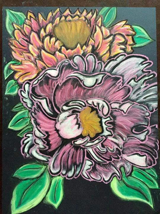 """Peonies"" by Chris Clemence - Art by Chris Clemence"
