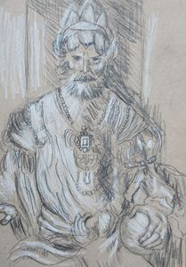 Study of Durer's Oriental King