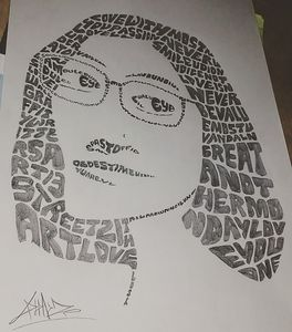 typography face art