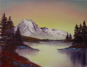 Autumn Lake- Original 14 by 11 Oil