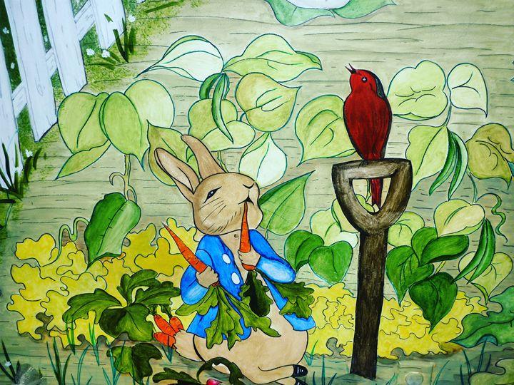 Peter Rabbit in the garden - Nikal