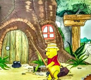 Winnie-the-Pooh's going fishing