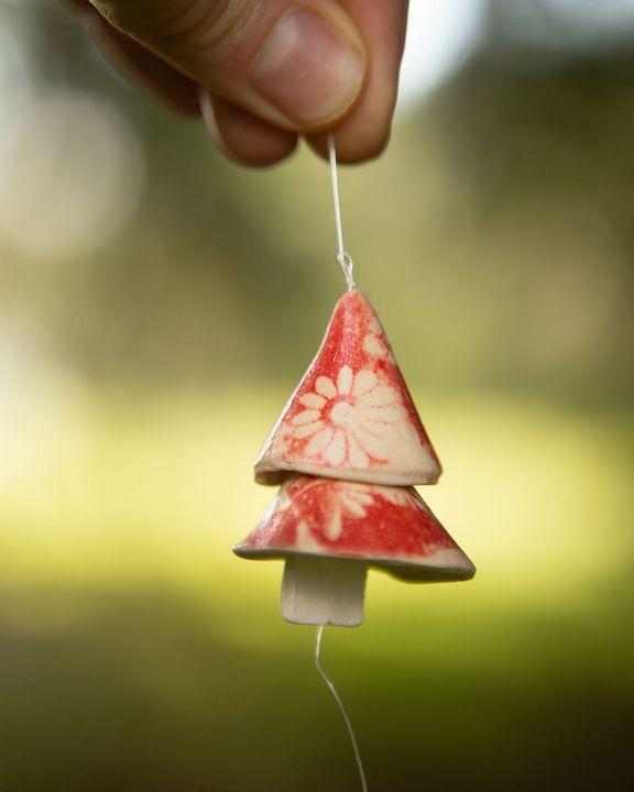 Handmade stoneware tiny bells - Crooked River Art Co