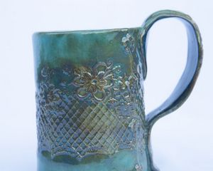 Handmade stoneware mug - Crooked River Art Co