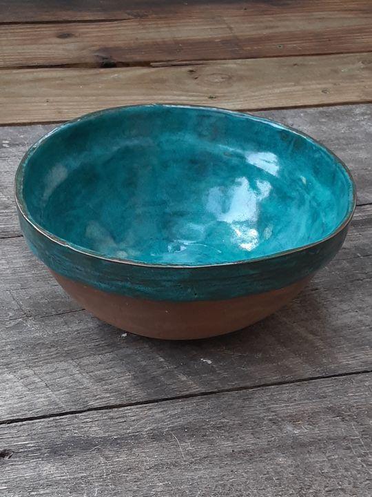 Handmade stoneware mixing bowl - Crooked River Art Co