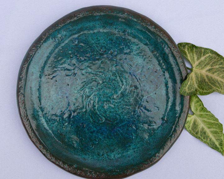 Stoneware dinner plate - Crooked River Art Co