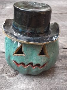 Handmade stoneware tealight/ incense