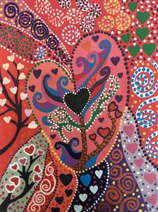 Folk Art Hearts