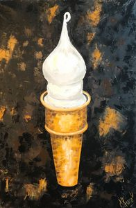 ICE CREAM oil painting, original - Art Gallery by S.Shavrina