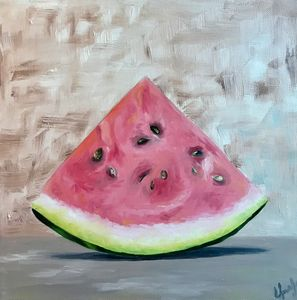 PRINT Watermelon painting on canvas