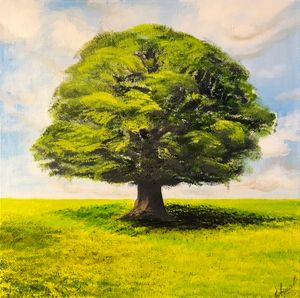 OAK Original oil painting - Art Gallery by S.Shavrina