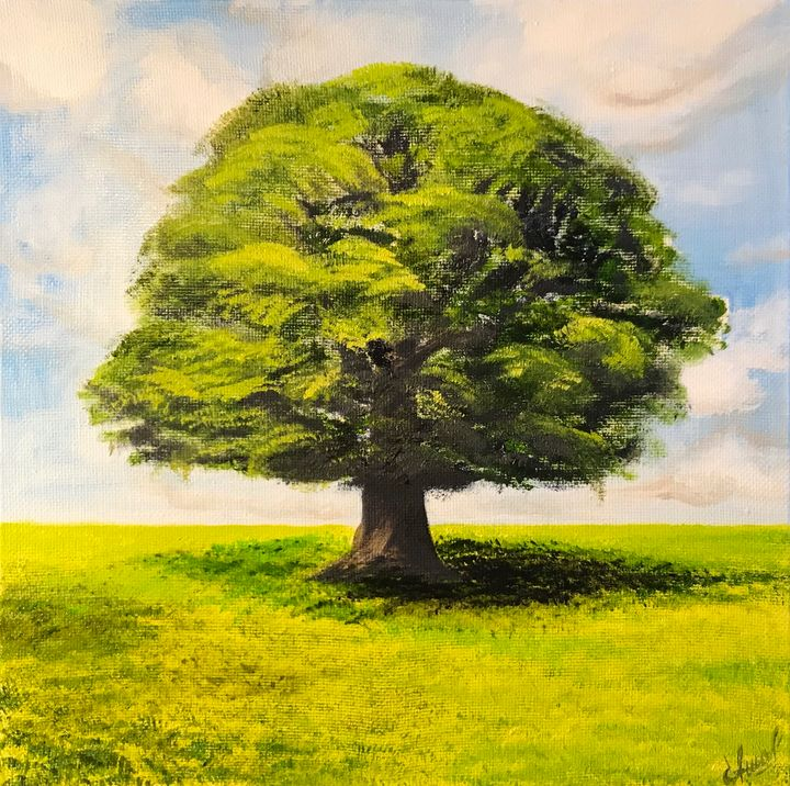 OAK Original oil painting - Art Gallery by S.Shavrina