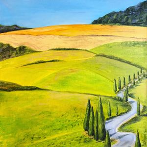 Toscana, Italy oil painting