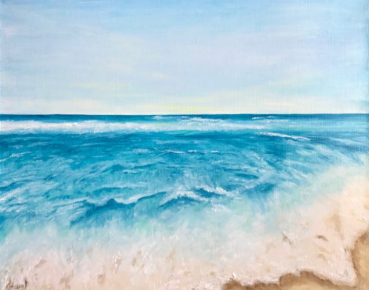 TROPICAL BEACH oil on canvas - Art Gallery by S.Shavrina