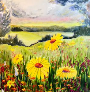 WILDFLOWERS oil painting, original - Art Gallery by S.Shavrina