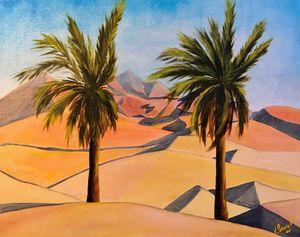 DUNES UAE, oil painting, original - Art Gallery by S.Shavrina