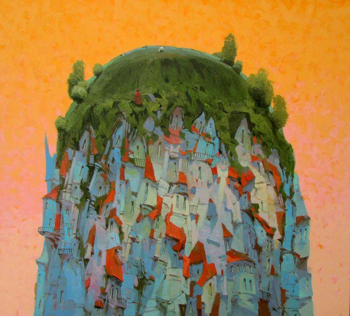 On the Hill - Vytautas Laisonas / Paintings