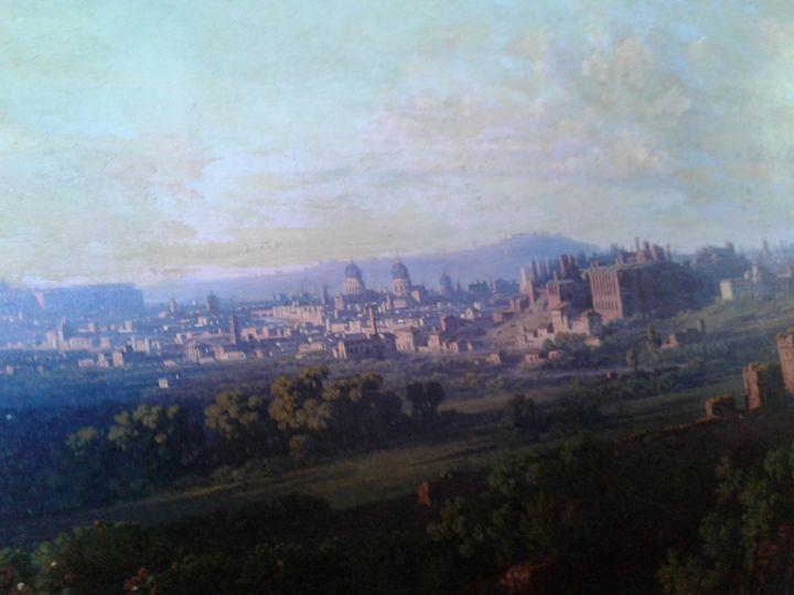 JJ Frey. Italian landscape. - JJ Frey