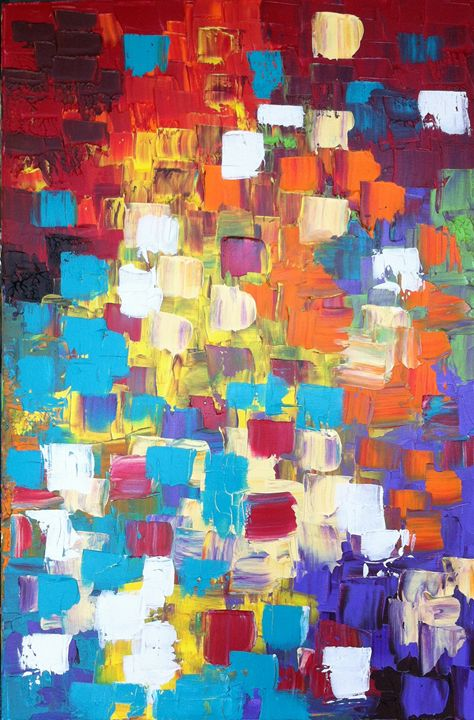 Colour Jumble (Sold) - Designs In Paint