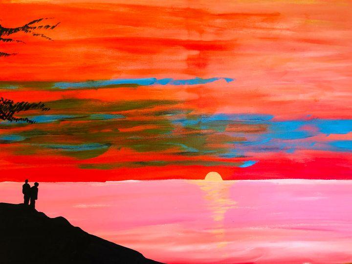 Sunset at Niagara on the Lake. - Alan Jackson's Paintings