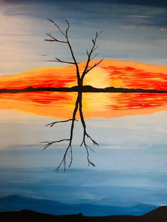 Reflecting on a tree - Alan Jackson's Paintings