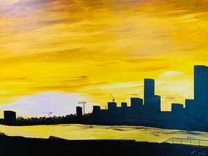YELLOW CITY SUNSET