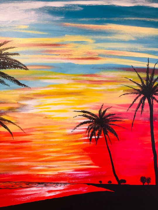 Port Antonio sunset - Alan Jackson's Paintings