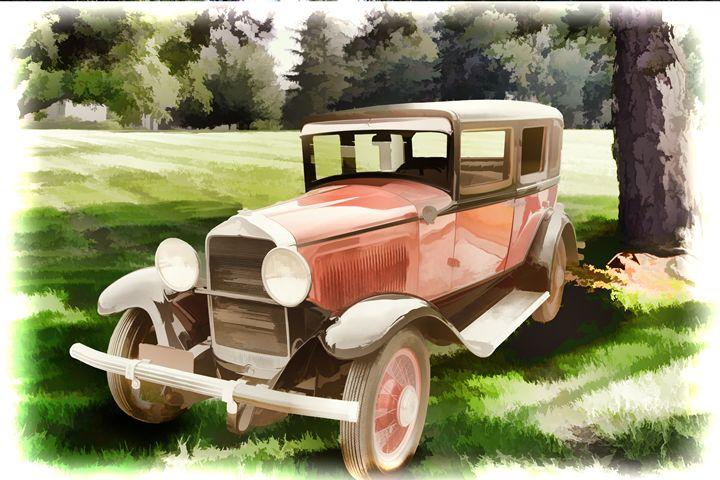 1929 Willys Knight Classic Car 4525 - M K Miller III